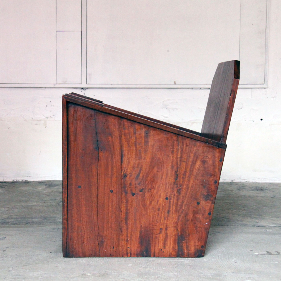 Brazilian Rosewood  Box Easy Chair 1950s