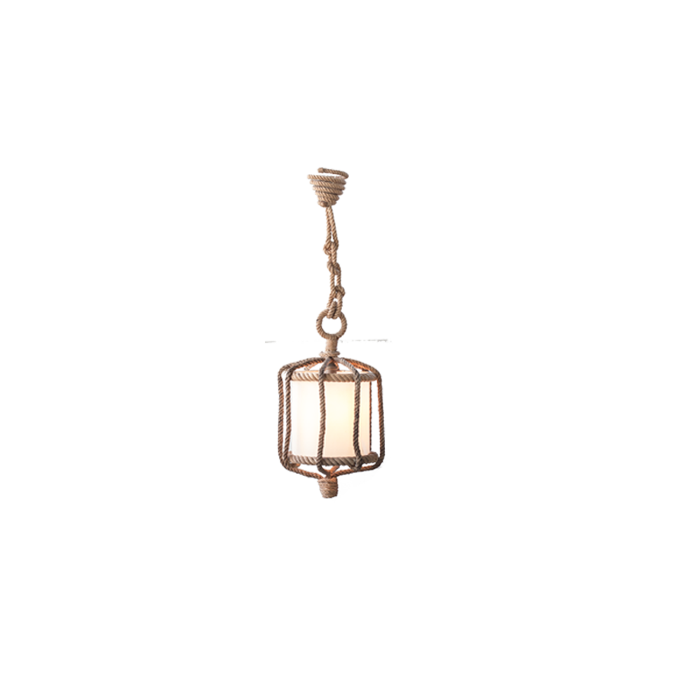 Audoux Minet Abaca Rope Pendant Lamp