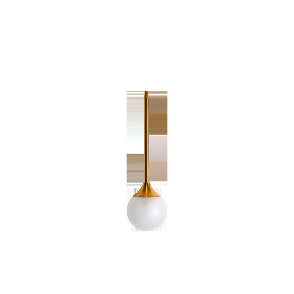 Brass Glass Ball Pendant