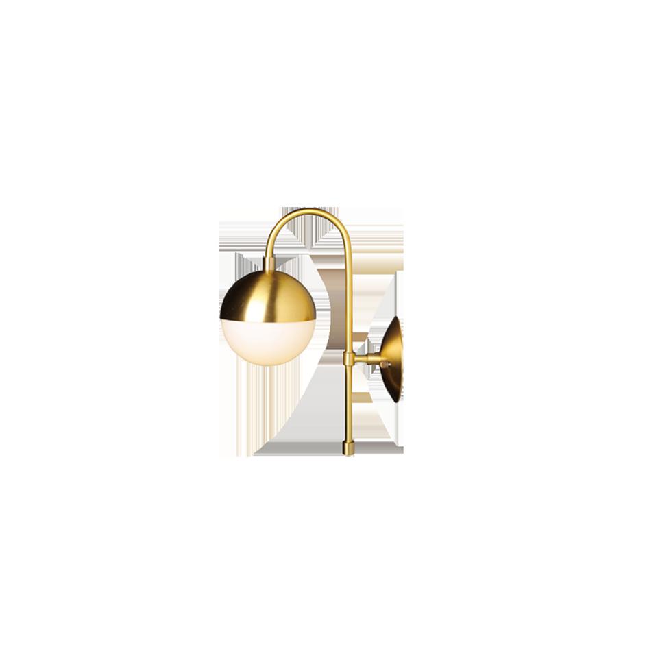 Brass Ball SER Sconce