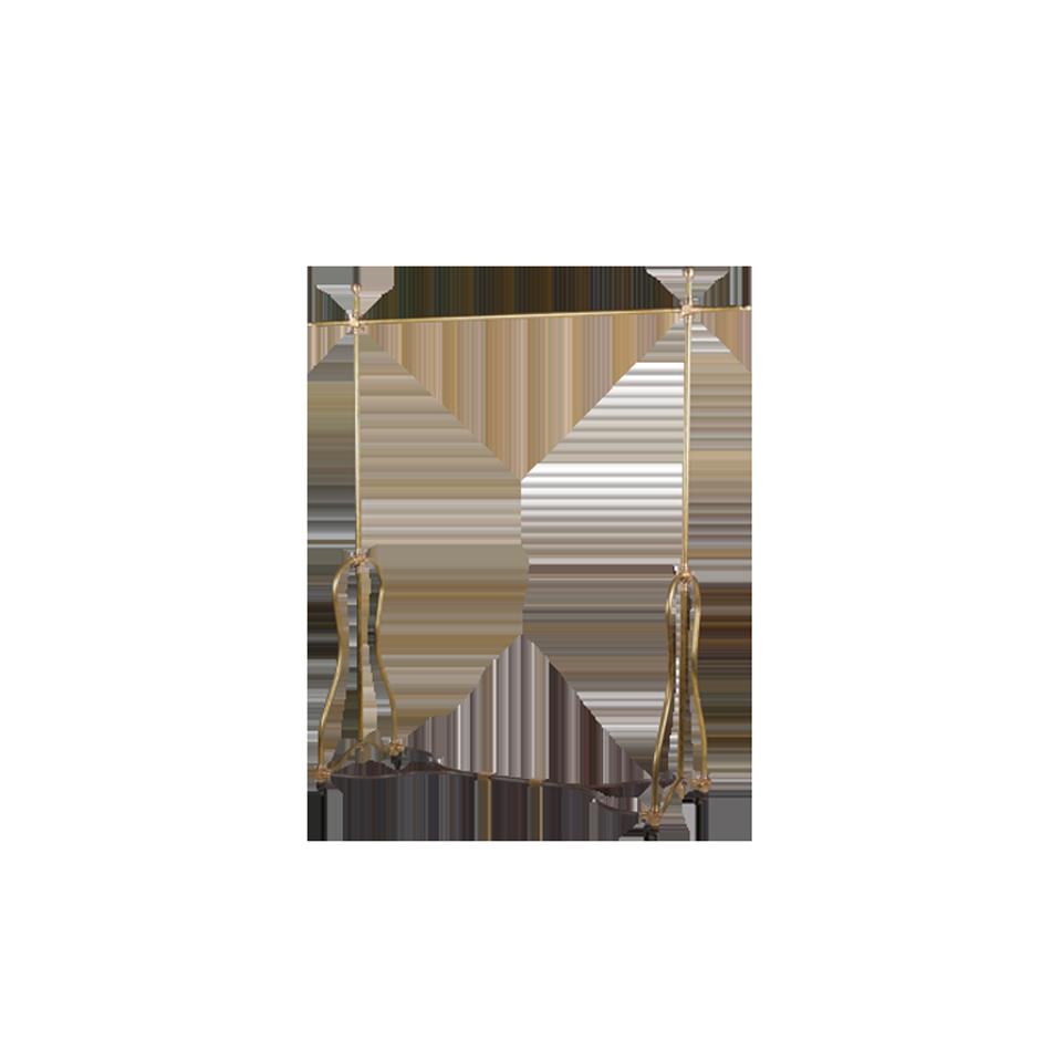 Brass hanger rack