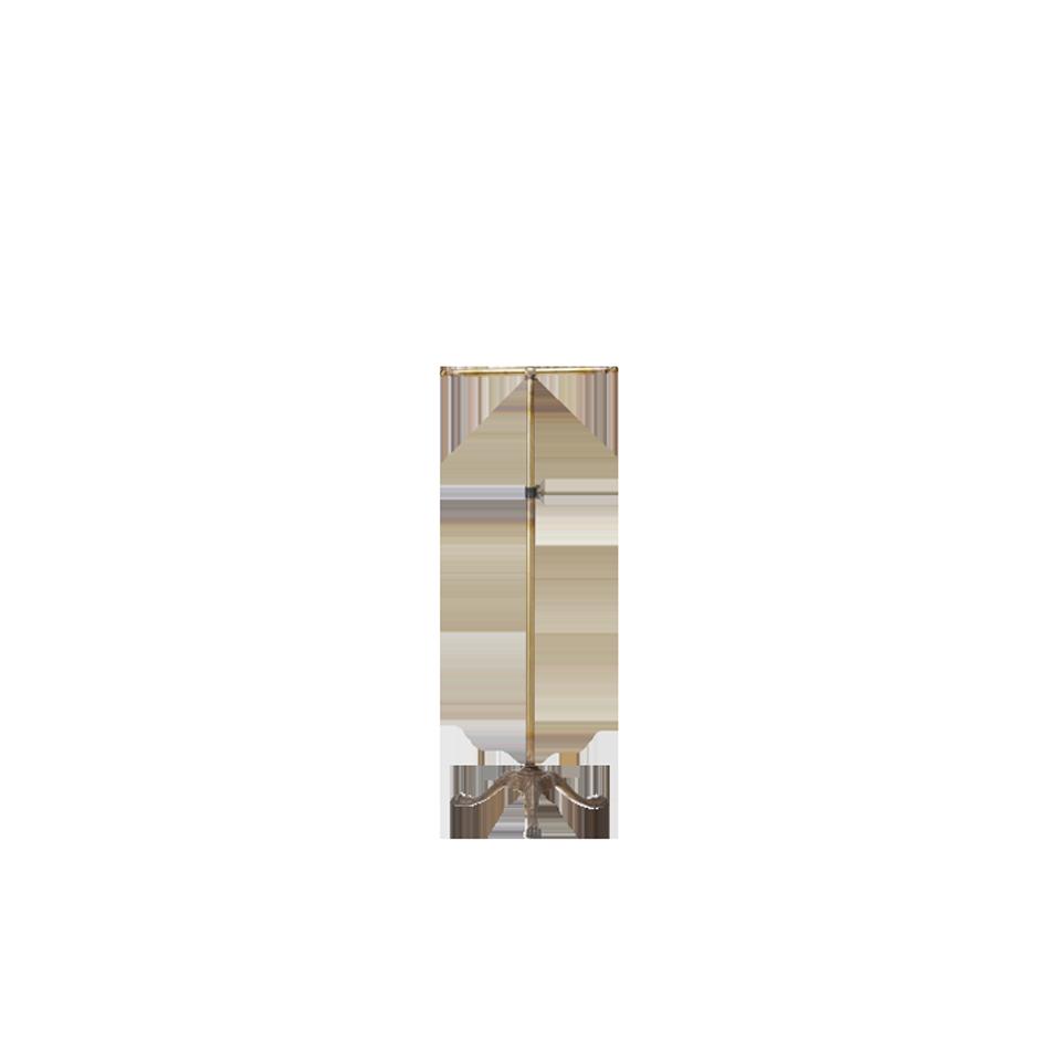 Italian style leg coat rack -brass-