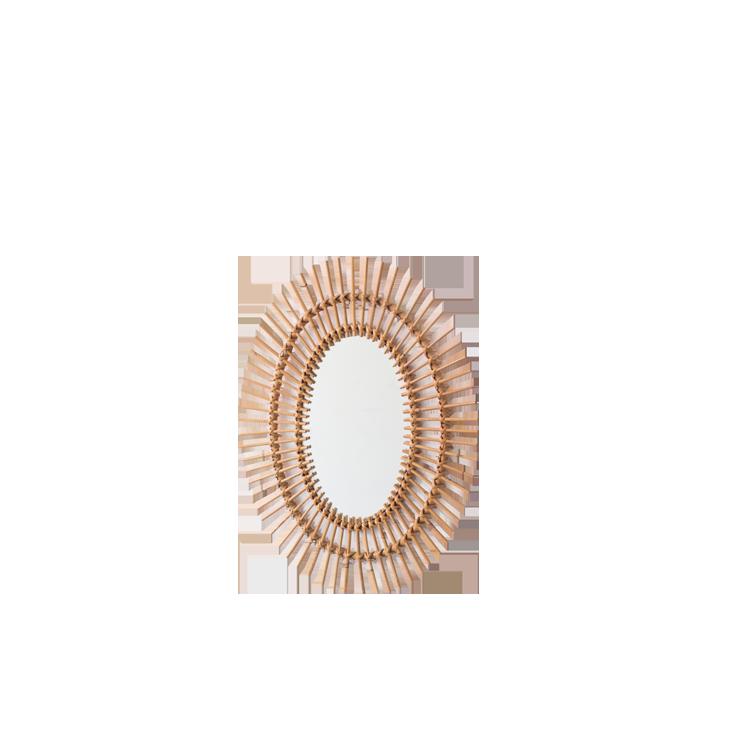 Franco Albini Style Sunny Rattan Mirror