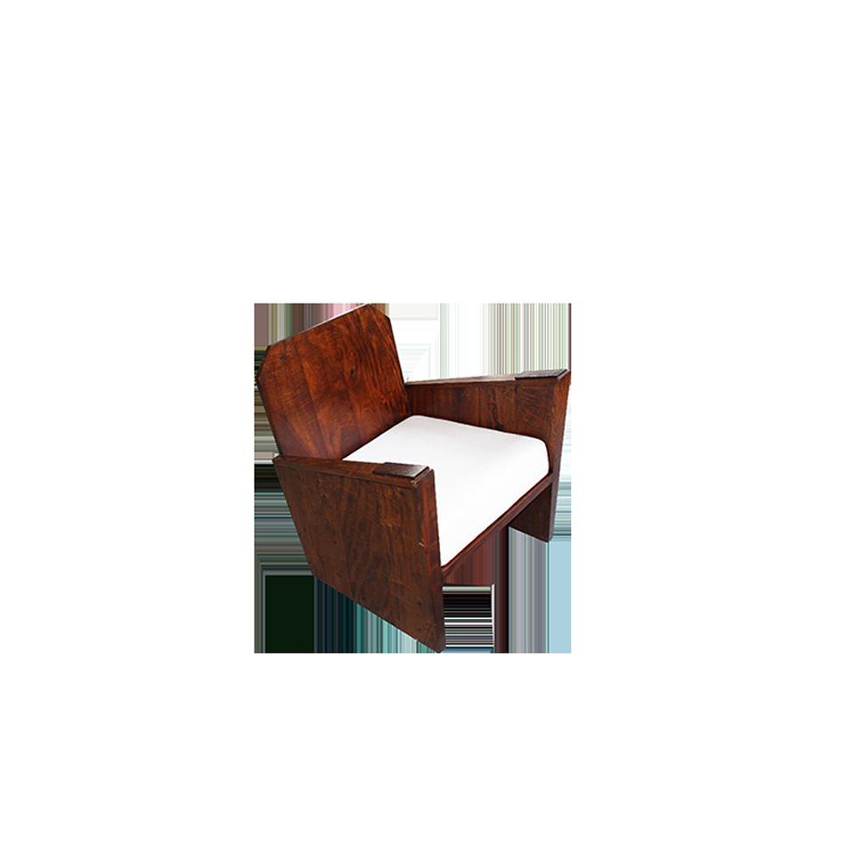 Brazilian Rosewood  Box Easy Chair 1950s