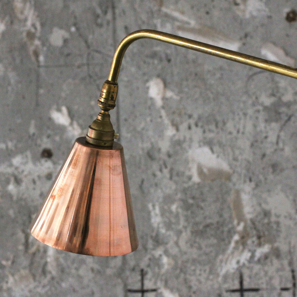 Italian Vintage Stand Lamp with Copper Shade