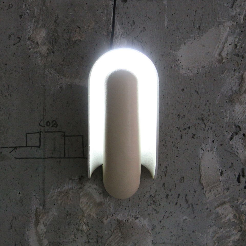 Modern Datch Design Wall Lamp with Ivory color