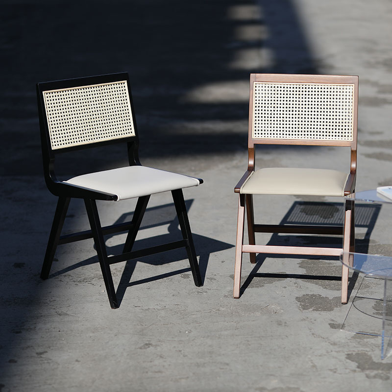 Cane Back  Chair with fabric seat