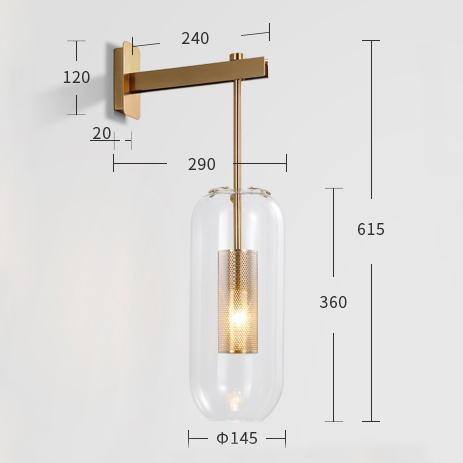 Brass Modern Sconce Glass Cover