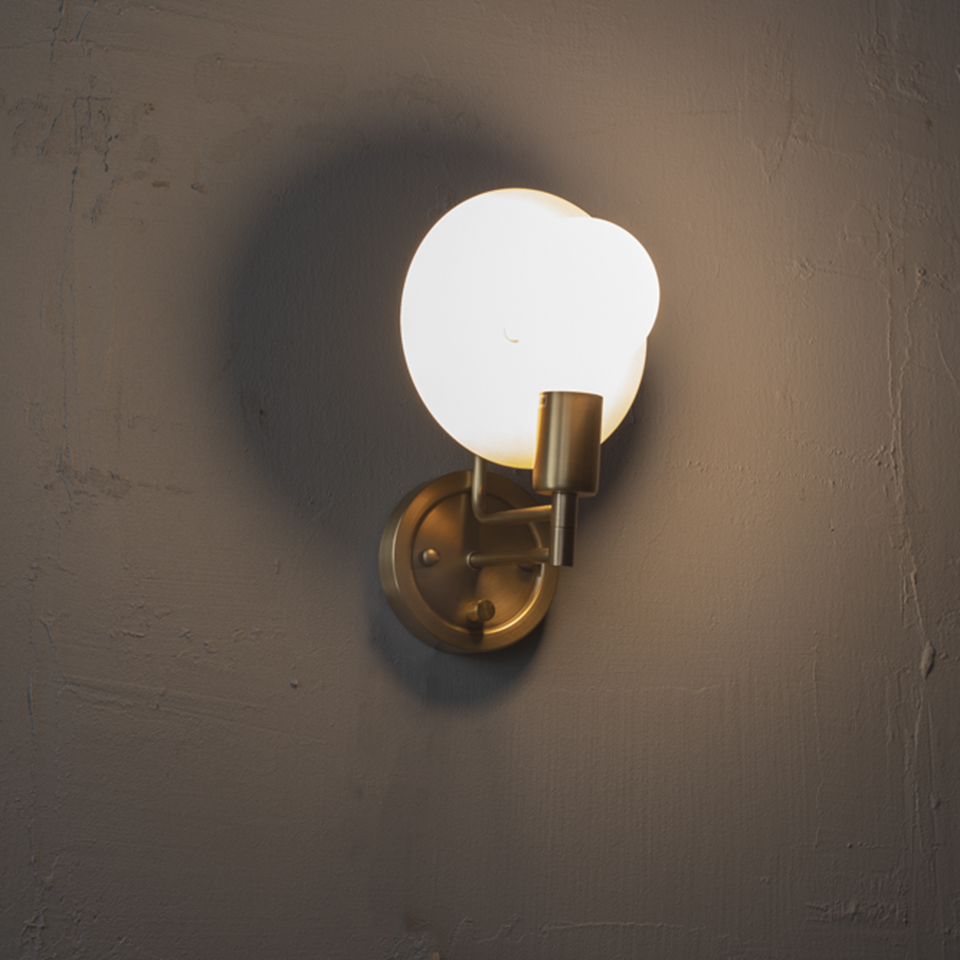 Movable Shade Brass Wall Lamp