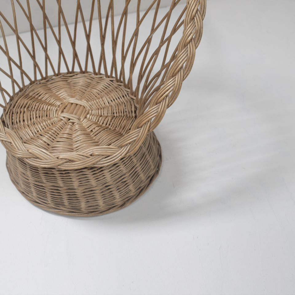 French Rattan Arm Chair