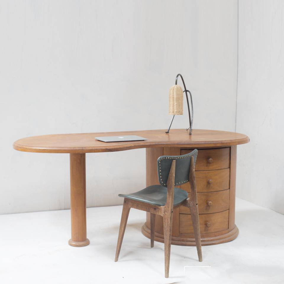 ART DECO Wood Desk