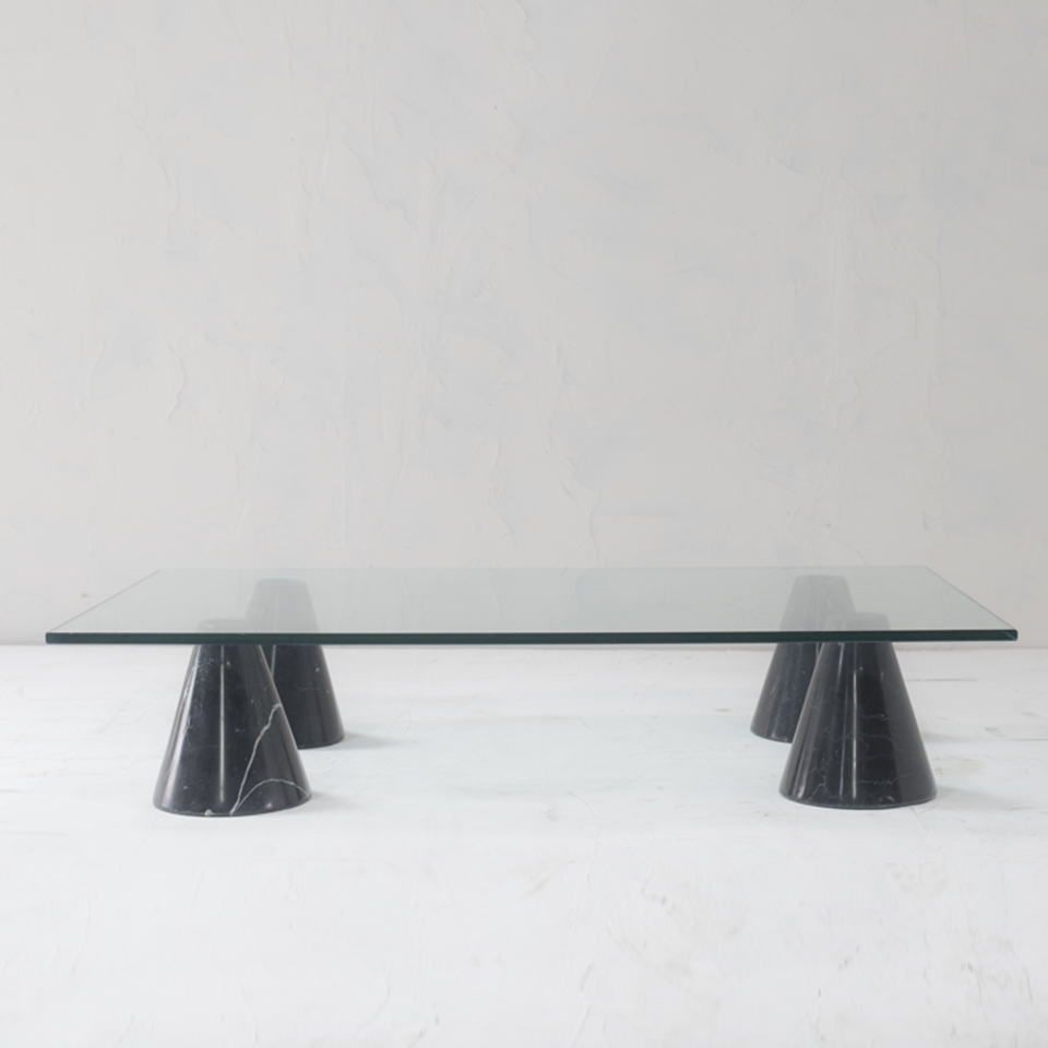 Italian Modern Glass Top Table