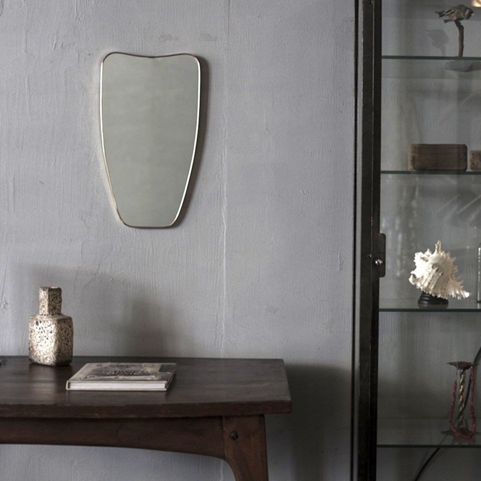 Italian Brass Frame Mirror(B)
