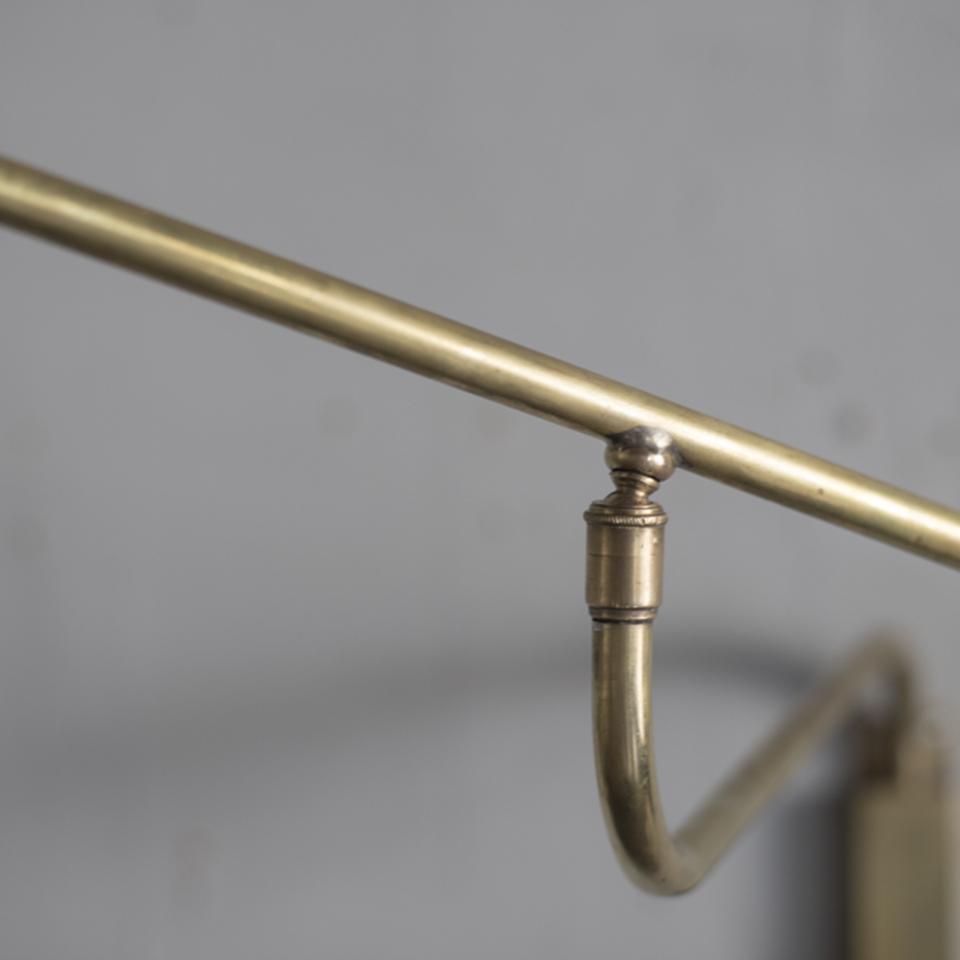 Brass Arm Bracket Light with Fabric Shade