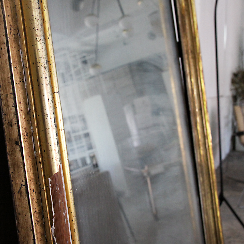 Antique Gold Flame Mirror