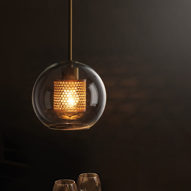 Glass Cover Ball Pendant Lamp