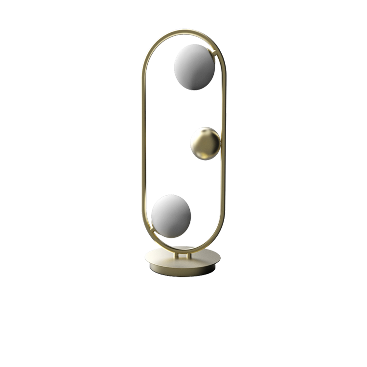 Glass Ball Stand Lamp GD/BK