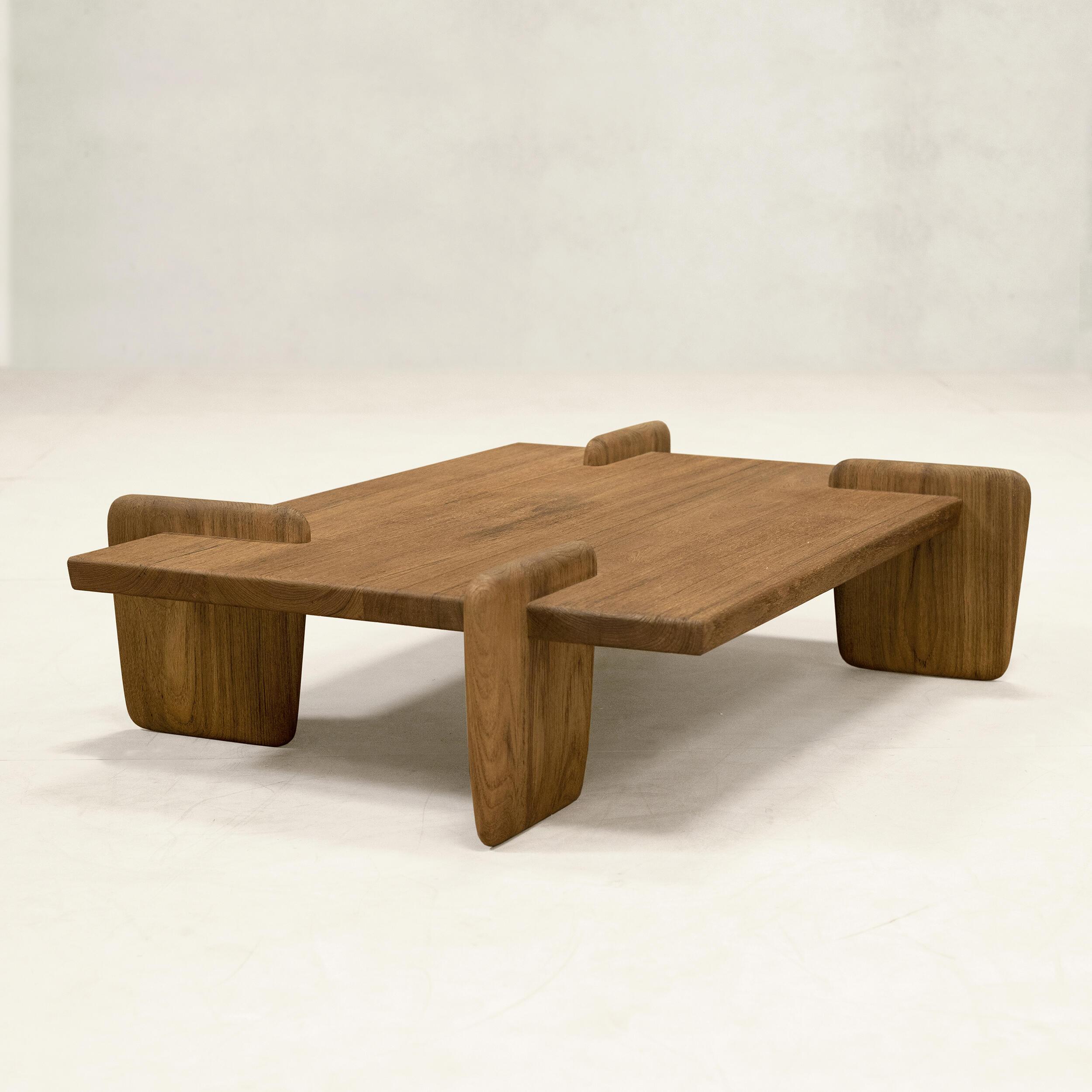x+l チーク コーヒーテーブル ローテーブル ミニマル
