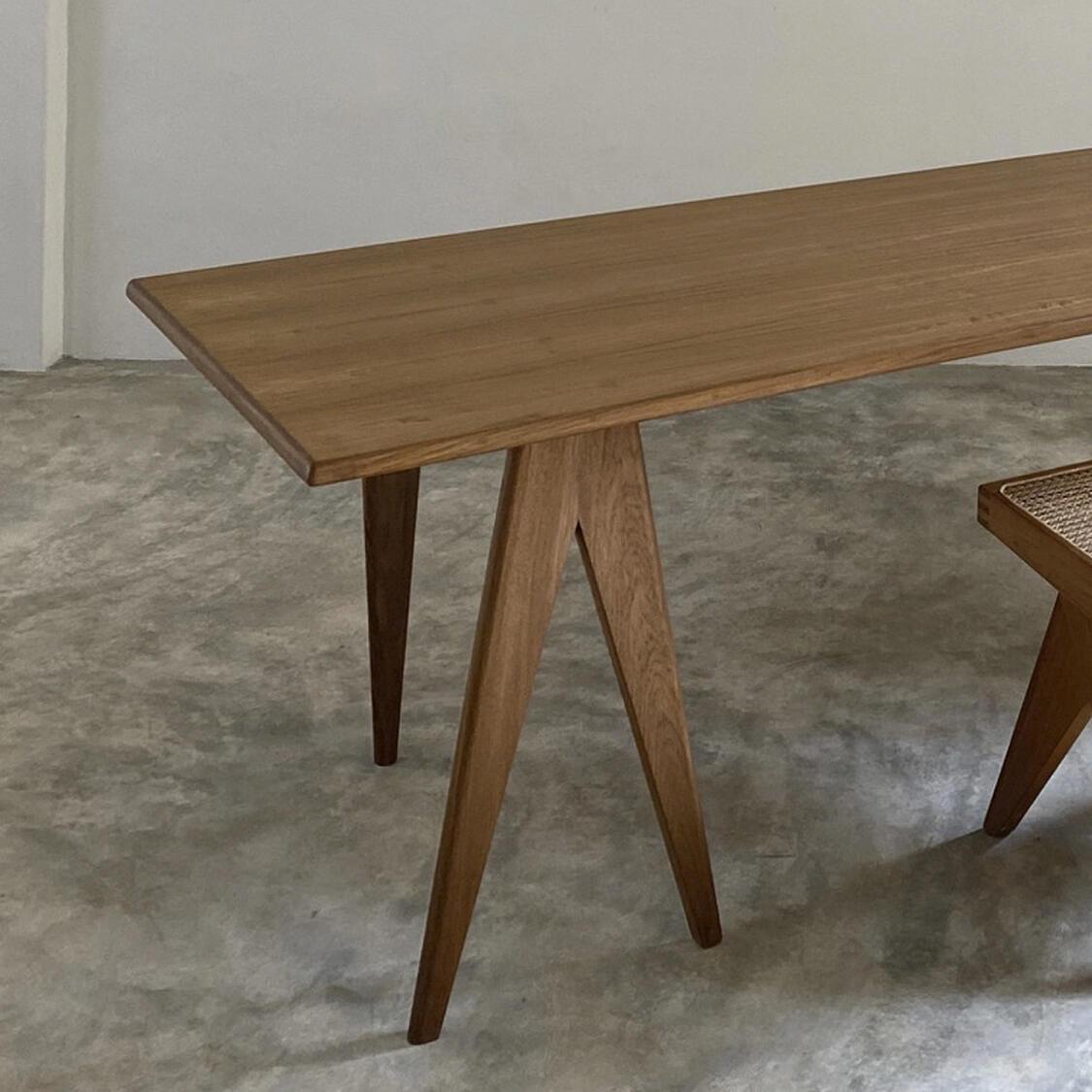Trestle Table Contemporary x+l teak