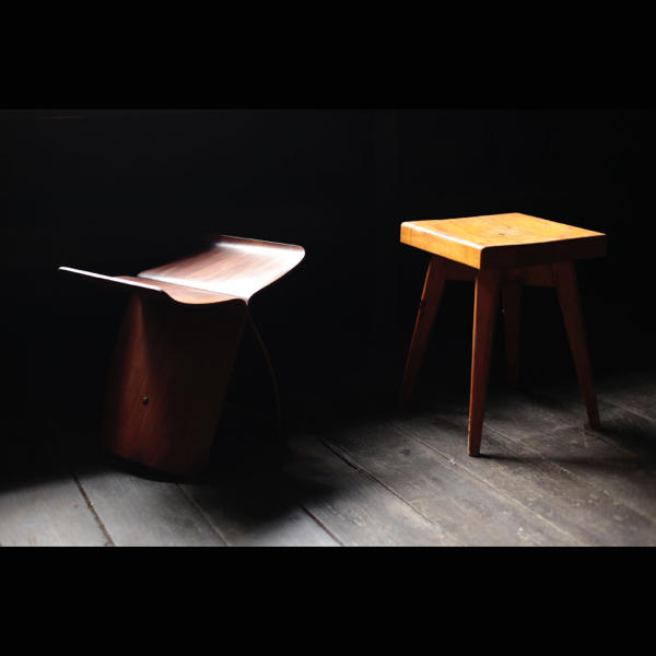 Stool by Charlotte Perriand and Christian Durupt