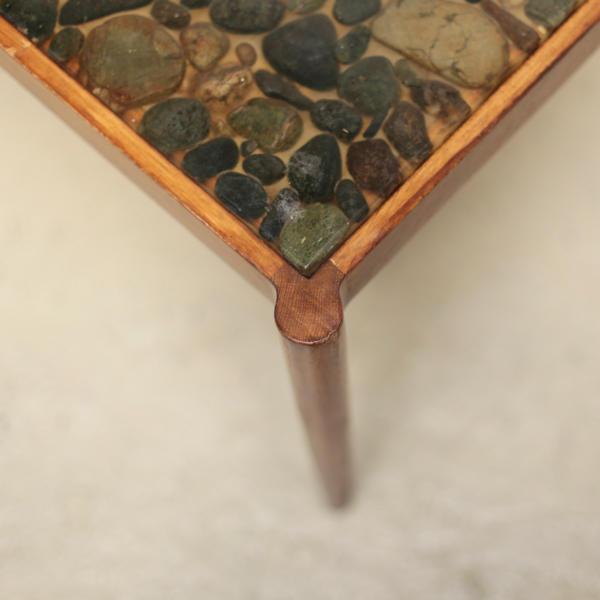 石 天板 コーヒーテーブル デンマーク モダン