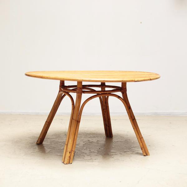 バンブー ラタン テーブル ヴィンテージ
