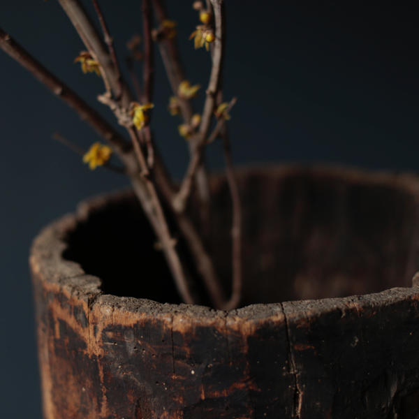Antique Wooden Planter from Romania