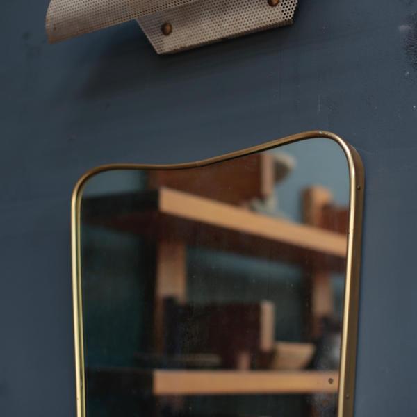 ヴィンテージミラー 真鍮 鏡 イタリア