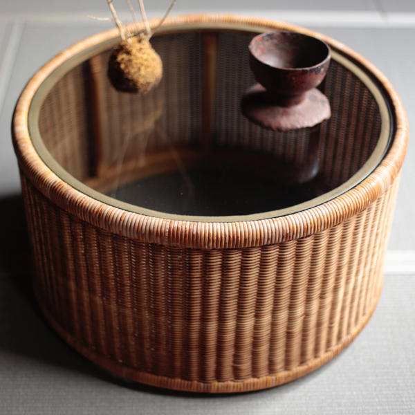 Isamu Kenmochi Yamakawa Rattan Side Table
