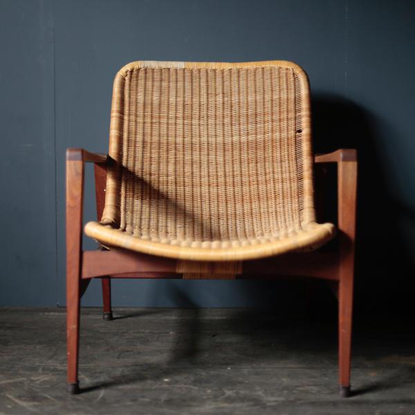 Vintage Lounge Chair manufactured by Yamakawa Rattan