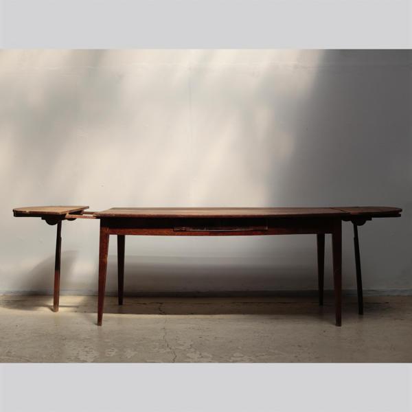 エクステンションテーブル オーバル ダイニングテーブル アンティーク