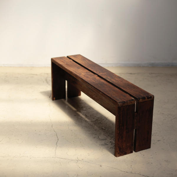 Pine Bench for Les Arcs by Charlotte Perriand