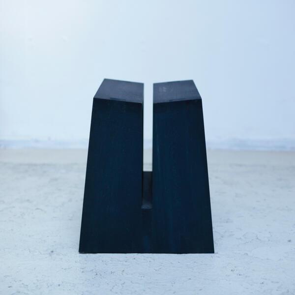 x+l アート ミニマムデザイン 藍染 ダイニングテーブル スツール