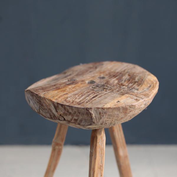 アンティーク スツール プリミティブ 木肌