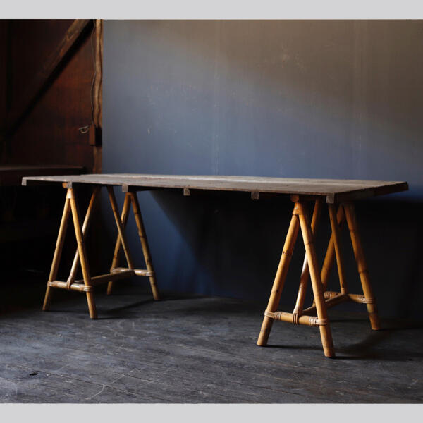 竹 バンブー テーブル ヴィンテージ