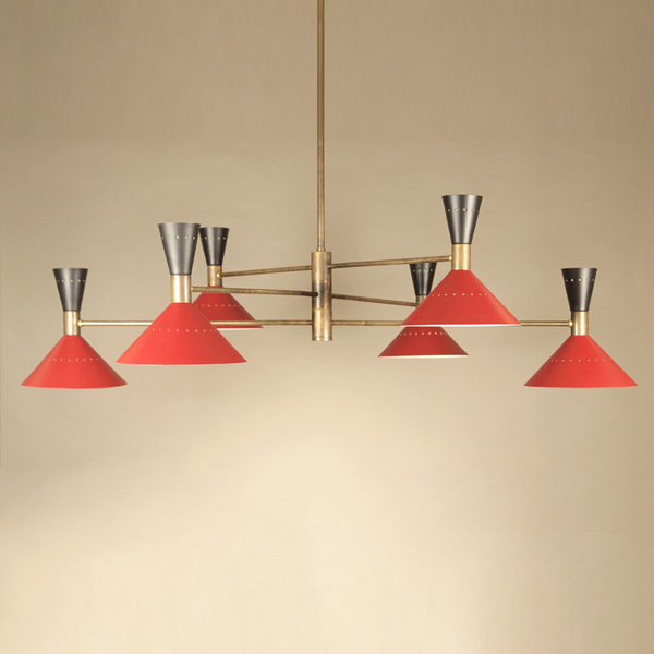 12 LIGHTS BRASS CHANDELIER