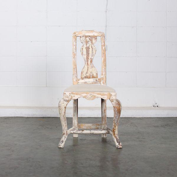 Swedish rococo style dining chair objet d 39 art for Swedish style dining chairs