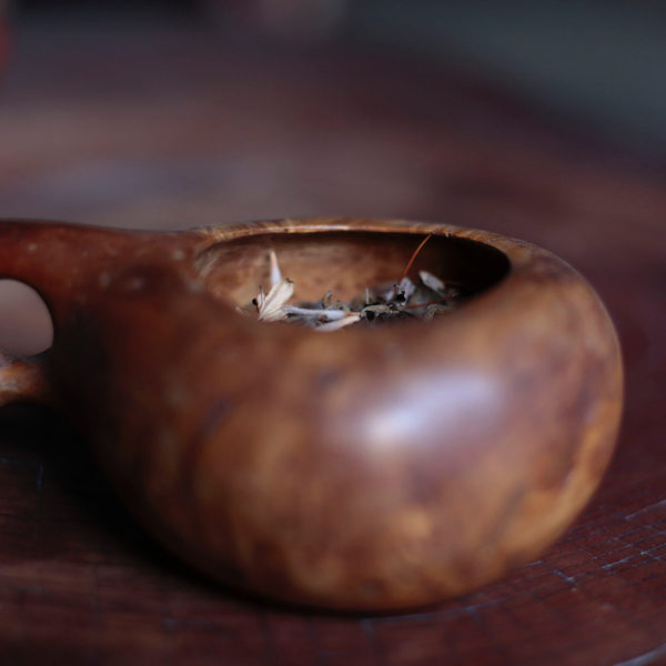 Antique Wood Handle Bowl from Sweden