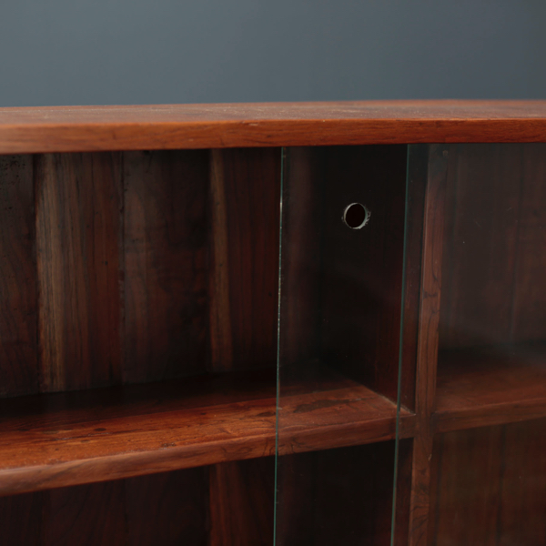 Teak Glass-Fronted Bookcase by Pierre Jeanneret
