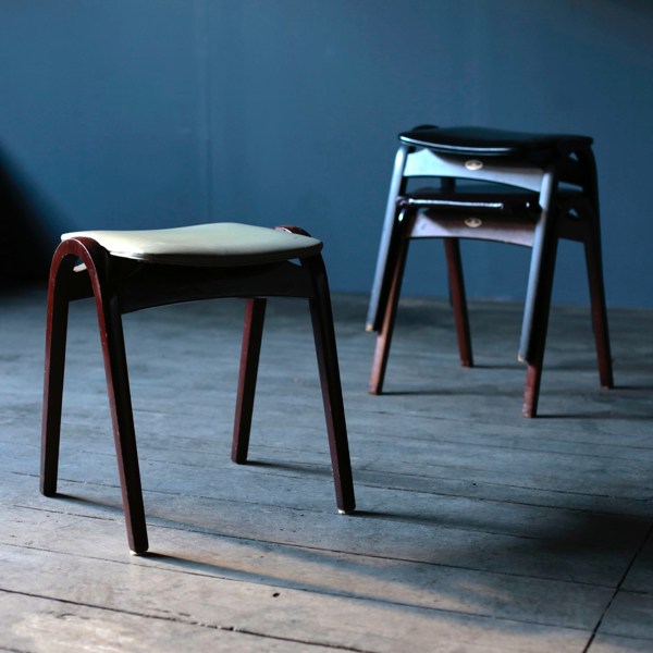Stacking Stools by Isamu Kenmochi for Tendo