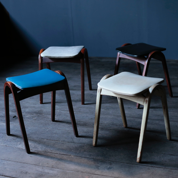 Stacking Stools by Isamu Kenmochi for Tendo Mokko