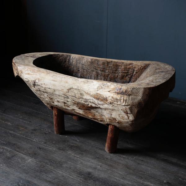 Primitive Stand Wood Bowl