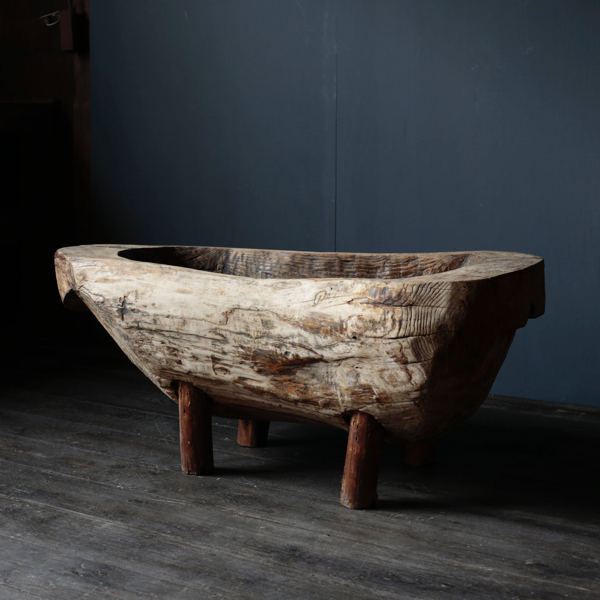 Primitive Stand Wood Bowl