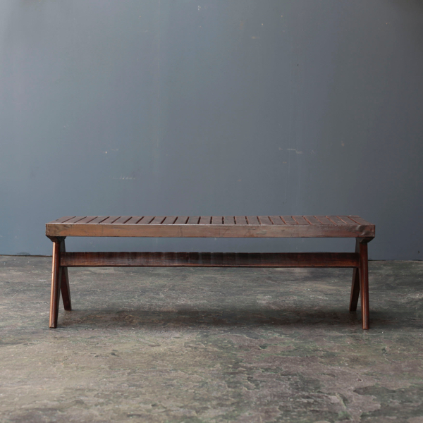 Bench with Slats by Pierre Jeanneret