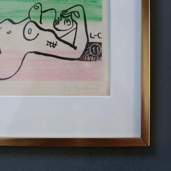 横たわる裸婦 by Le Corbusier