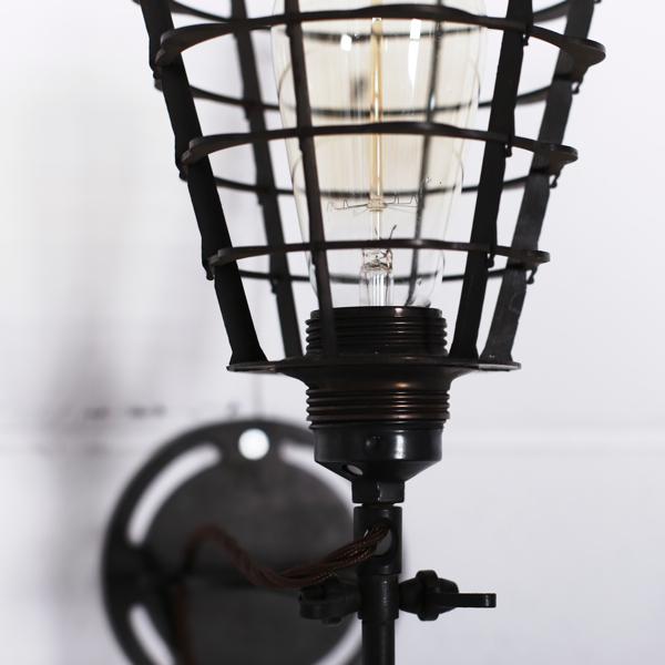 Art Nouveau Sconce With Cage Objet D Art
