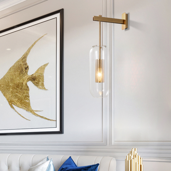 Brass Modern Sconce Glass Cover