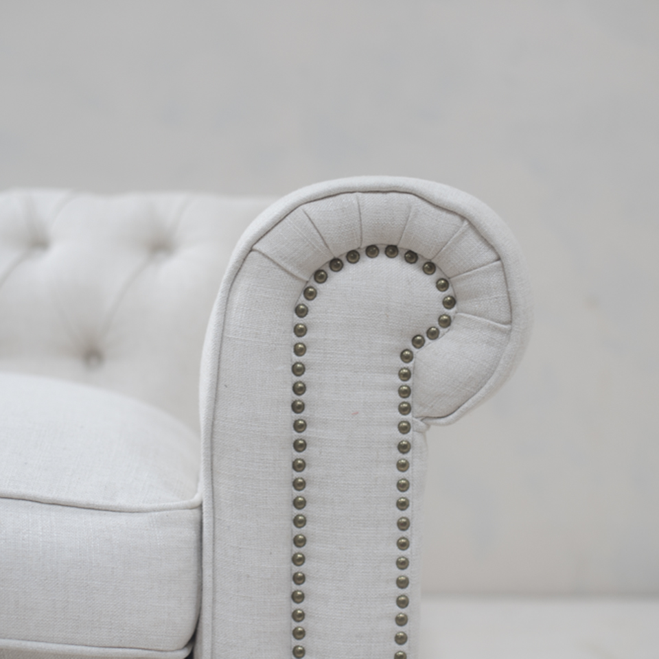 Off White 2 Seater Sofa