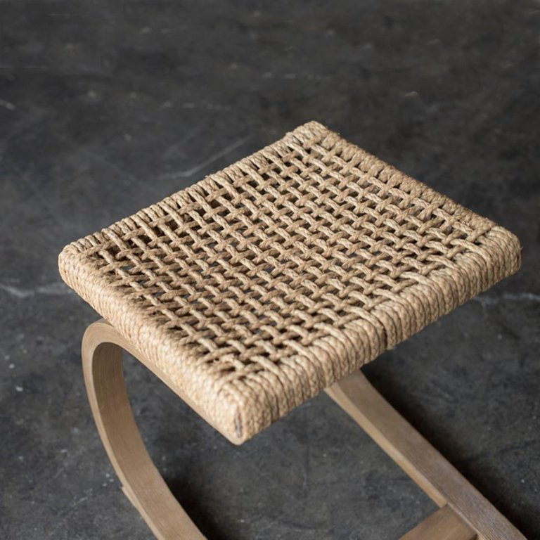 Rare Dressing Chair Stool by Audoux-Minet
