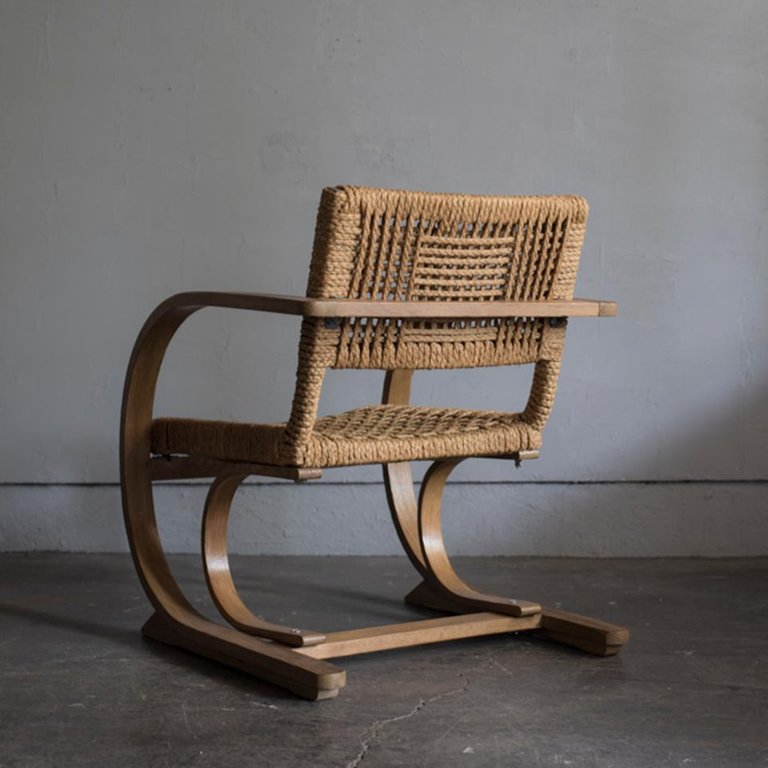 Audoux-Minet Rope Armchair for Vibo, 1950s